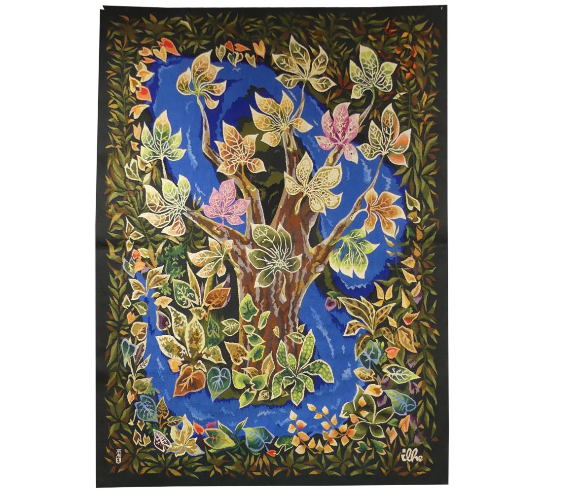 Henri Ilhe-l'arbre De Vie-tapisserie d'Aubusson