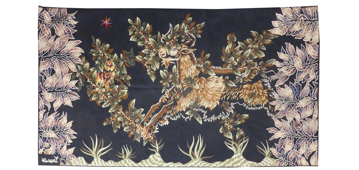 Jean Lurçat- Belzébuth-tapisserie d'Aubusson