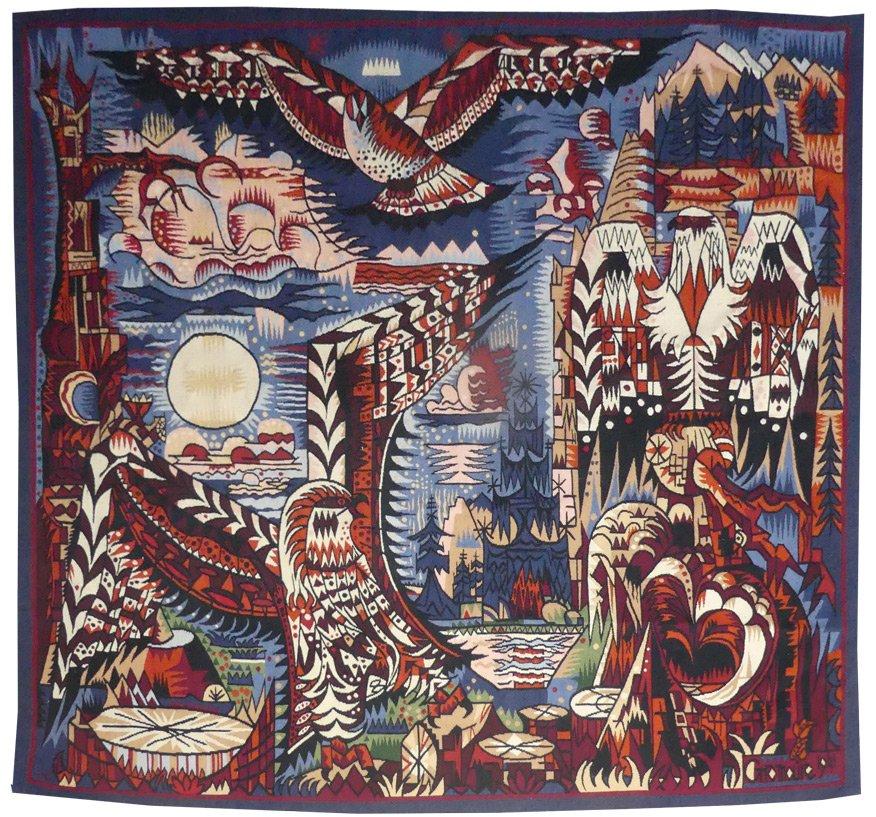 Marcel Gromaire-birds Of Prey-aubusson Tapestry