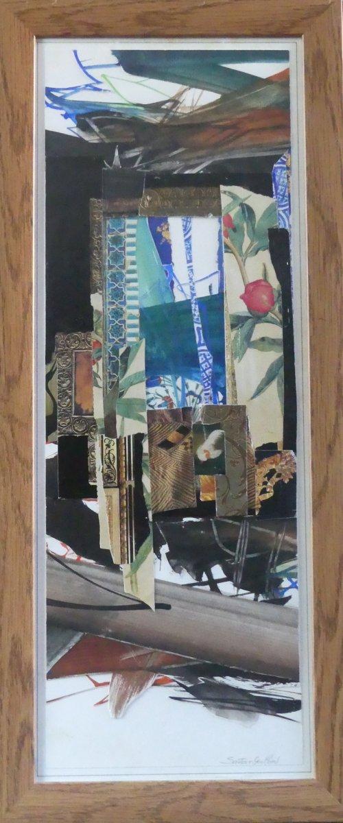Jean-rené Sautour-gaillard - Objets De Lumière - Aquarelle Et Collage-maquette De Tapisserie
