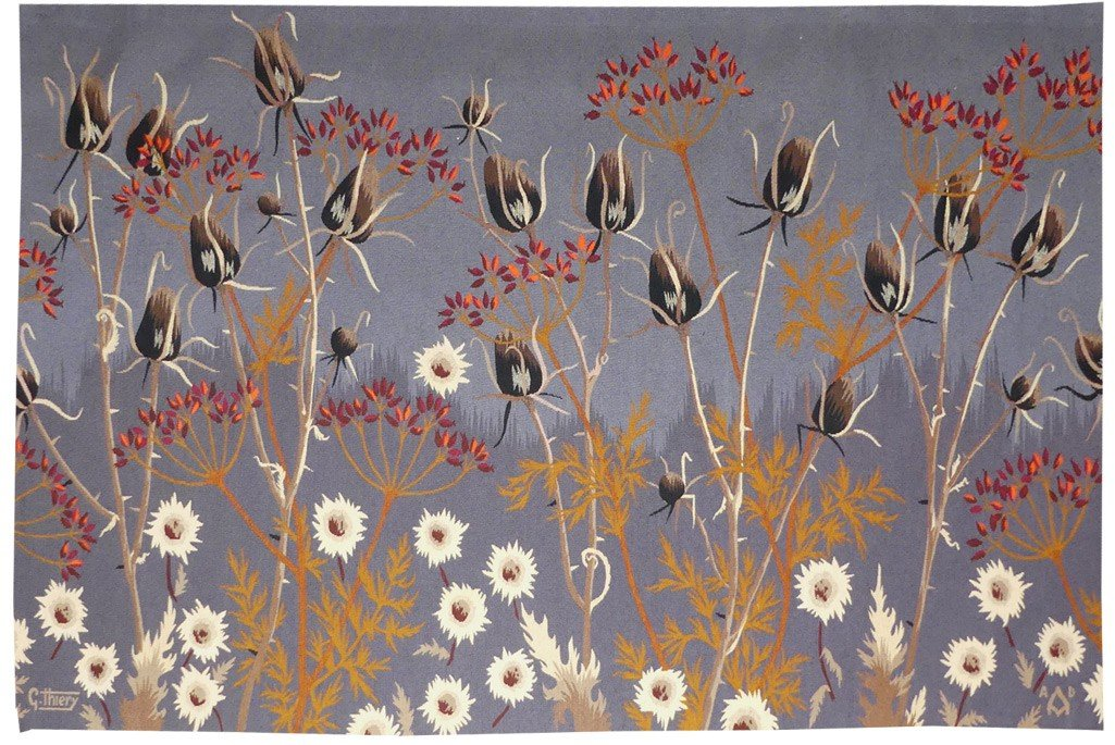 Gaston Thiery- Jardin Sauvage-aubusson Tapestry