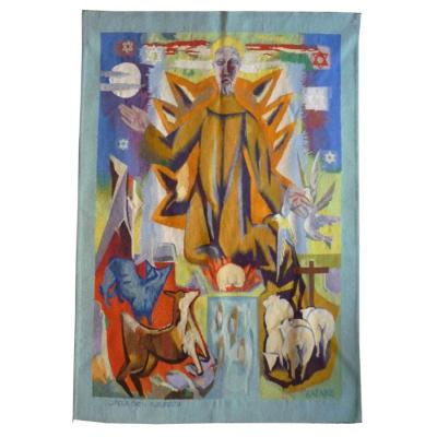 Jeanbazaine - Saint Francis Talking To Animals - Aubusson Tapestry