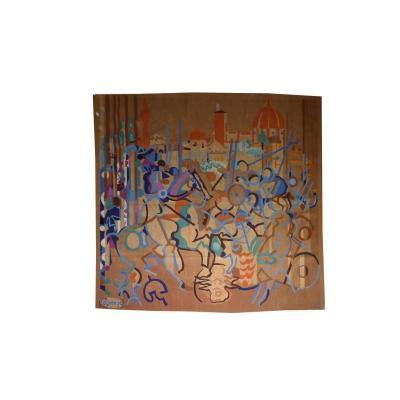Jacques Lagrange - Combat Devant Florence - Tapisserie d'Aubusson