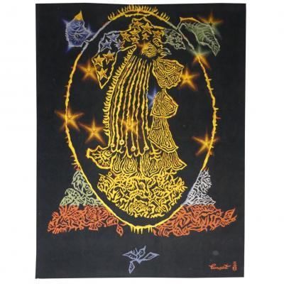 Jean Lurçat- Faisan Feu-tapisserie d'Aubusson
