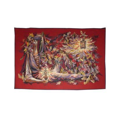 Robert Wogensky- Le Veilleur -tapisserie d'Aubusson
