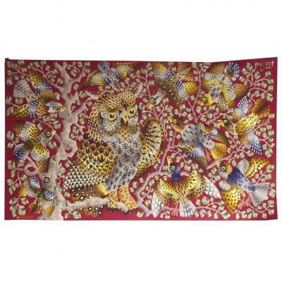 René Perrot - Aubusson Owl-tapestry