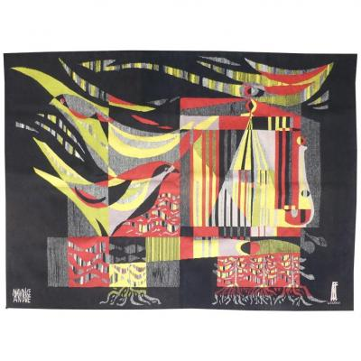 Maurice André- Composition -tapisserie d'Aubusson