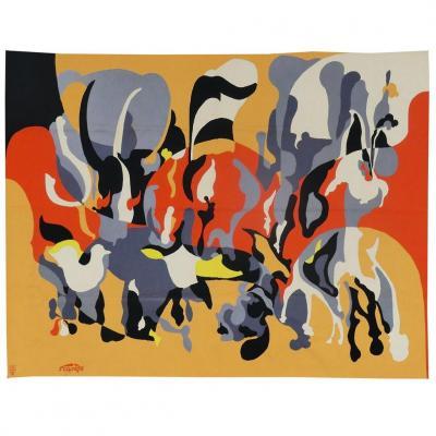 François Farvèze- Composition-tapisserie d'Aubusson