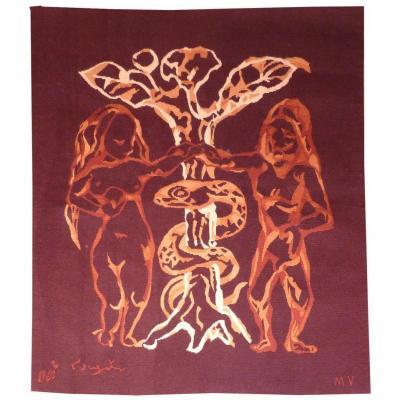 Léonard Foujita- Adam Et Eve- Tapisserie