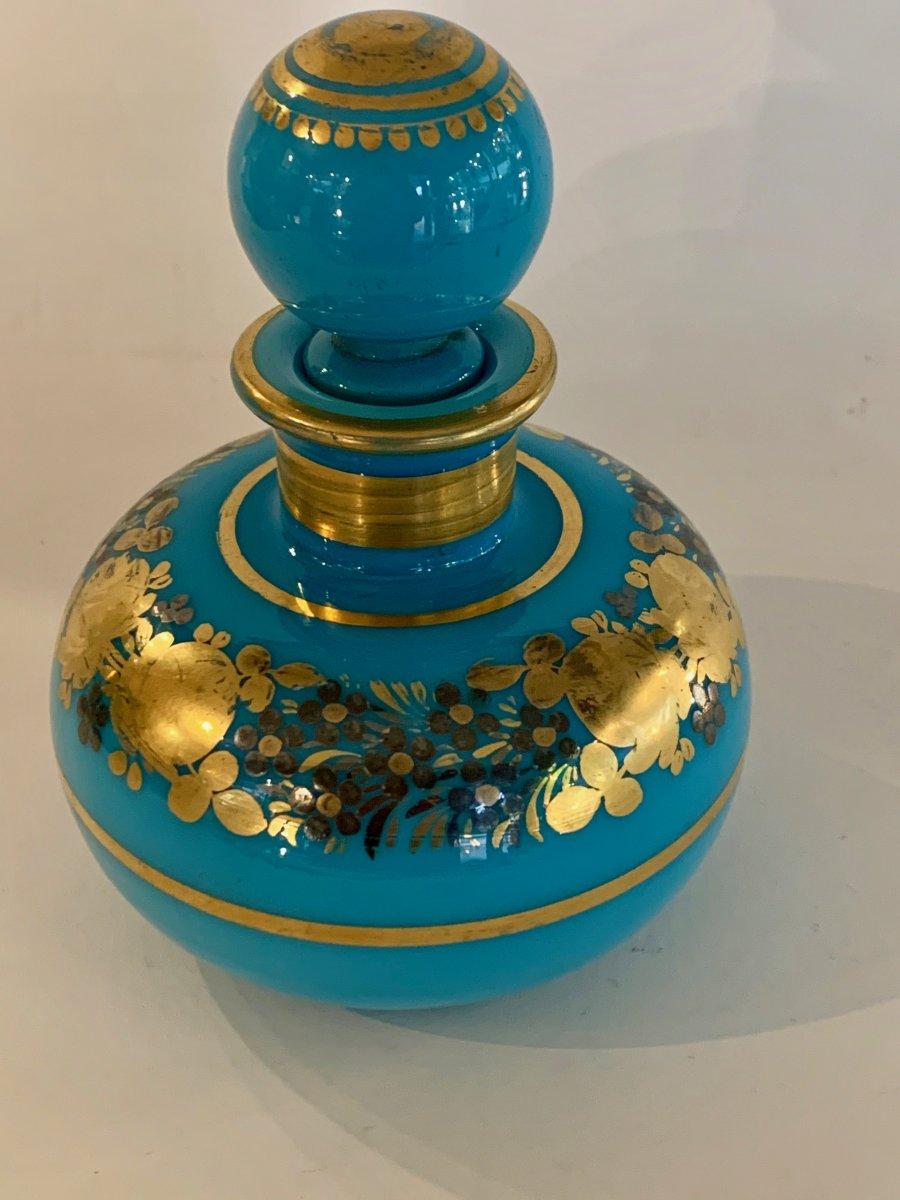 Flacon En Opaline Turquoise Desvignes