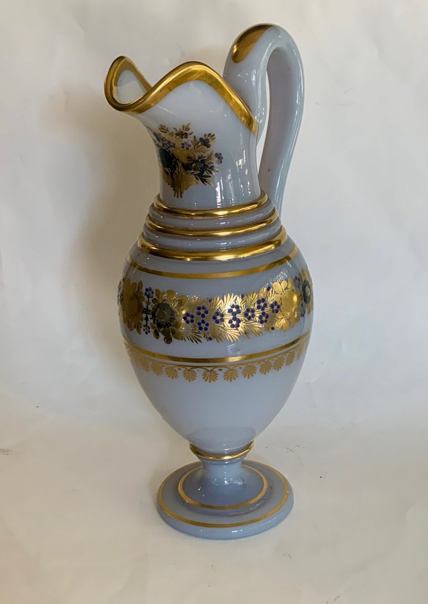 Opaline Water Pot  Decoded By Desvignes 19 Th Century
