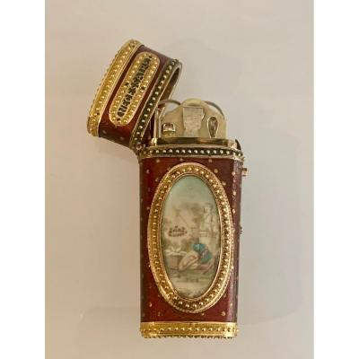 Necessaire  In Lacquer And Gold From The 18th Century