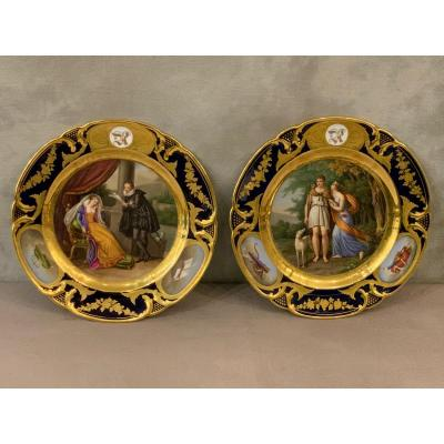 Pair Of Plates By Rihouet And Schoelcher