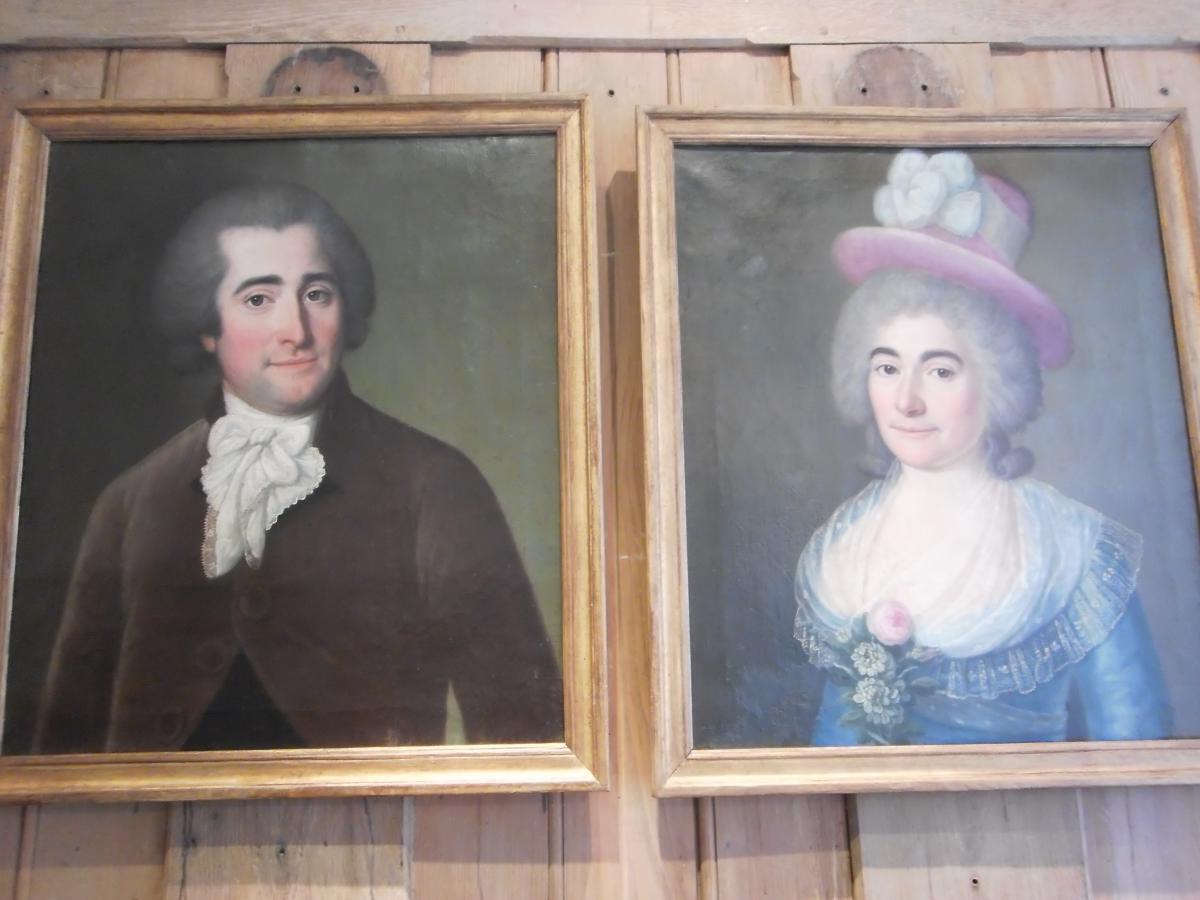 XVIII Pair Of Portraits