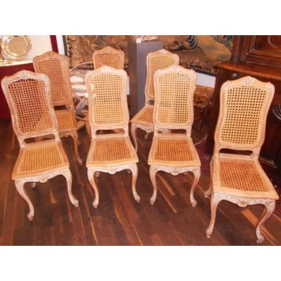Series Of 4 Louis XV Style Chairs