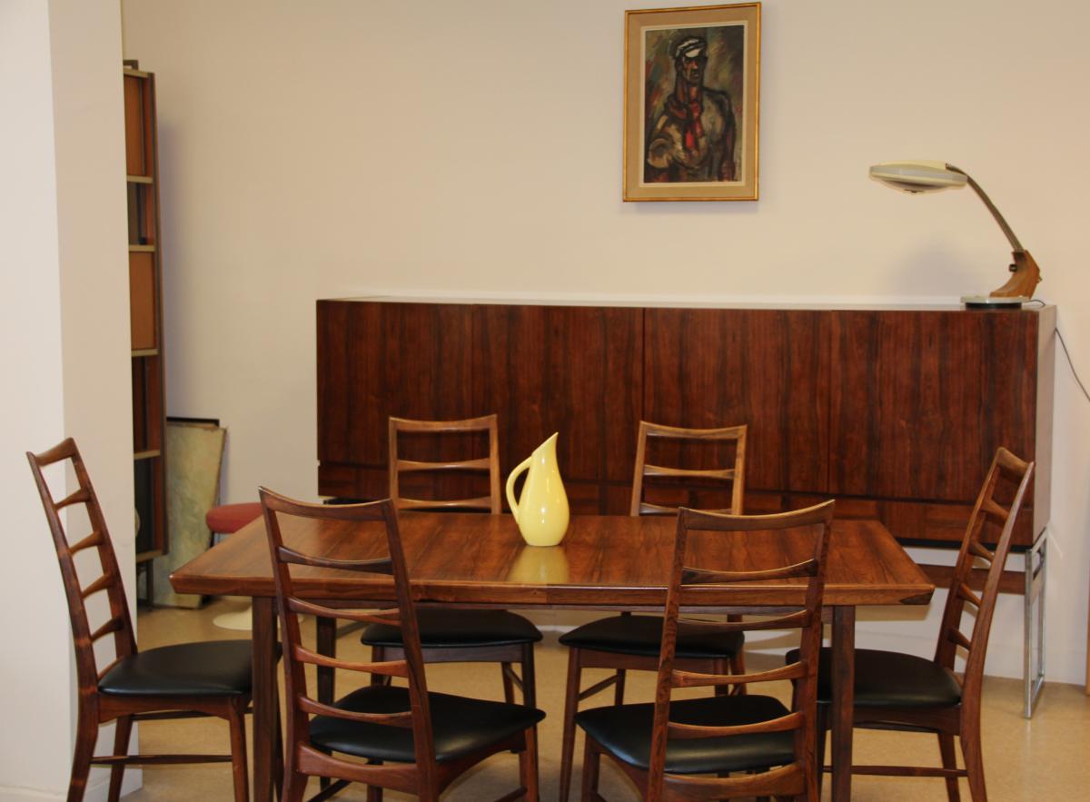 Table en palissandre de rio circa 1960 tables salle manger - Table en palissandre massif ...