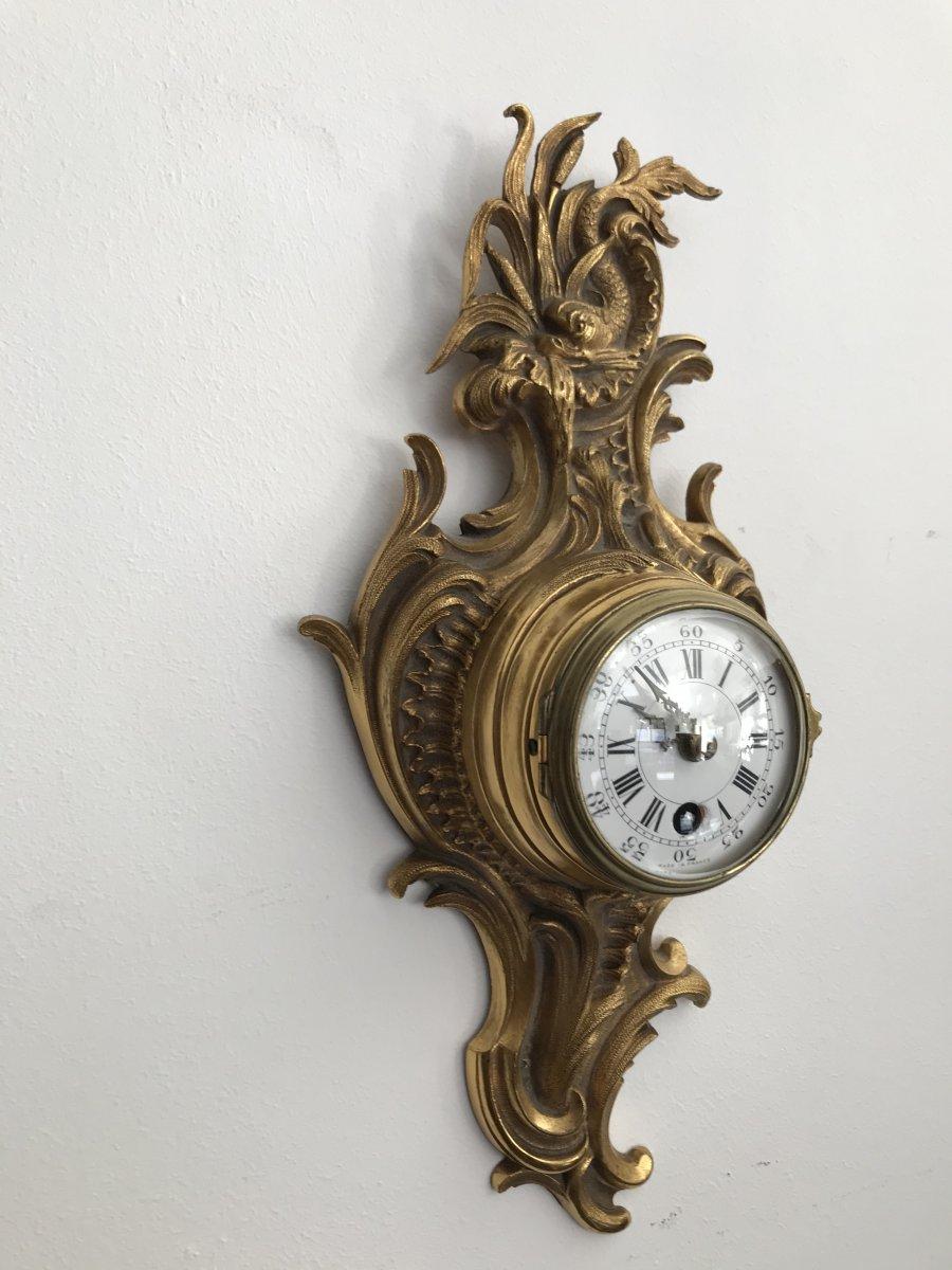 Joli Petit Cartel En Bronze Doré Style Louis XV époque Napoleon III