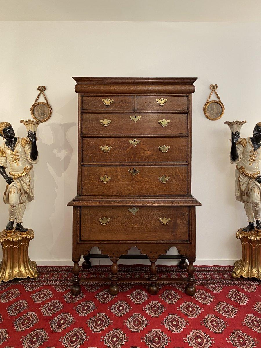 Rare Cabinet William  &  Mary Epoque Fin XVIIeme