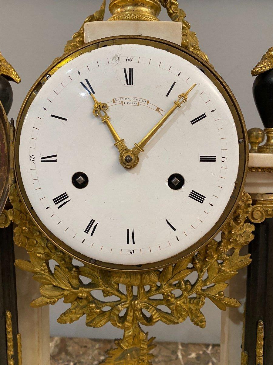 Large Portico Clock Louis XVI Gaston Jolly Paris Around 1780-photo-1