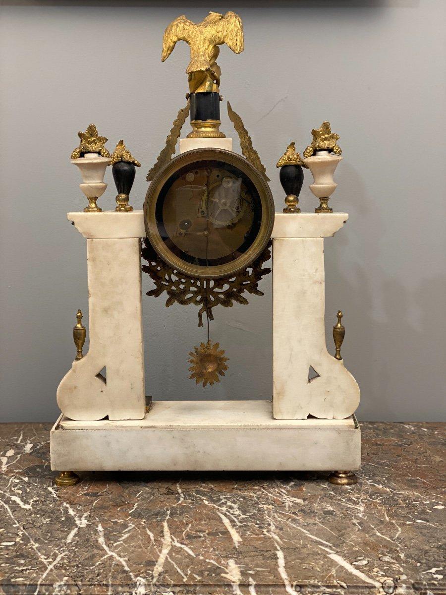 Large Portico Clock Louis XVI Gaston Jolly Paris Around 1780-photo-2
