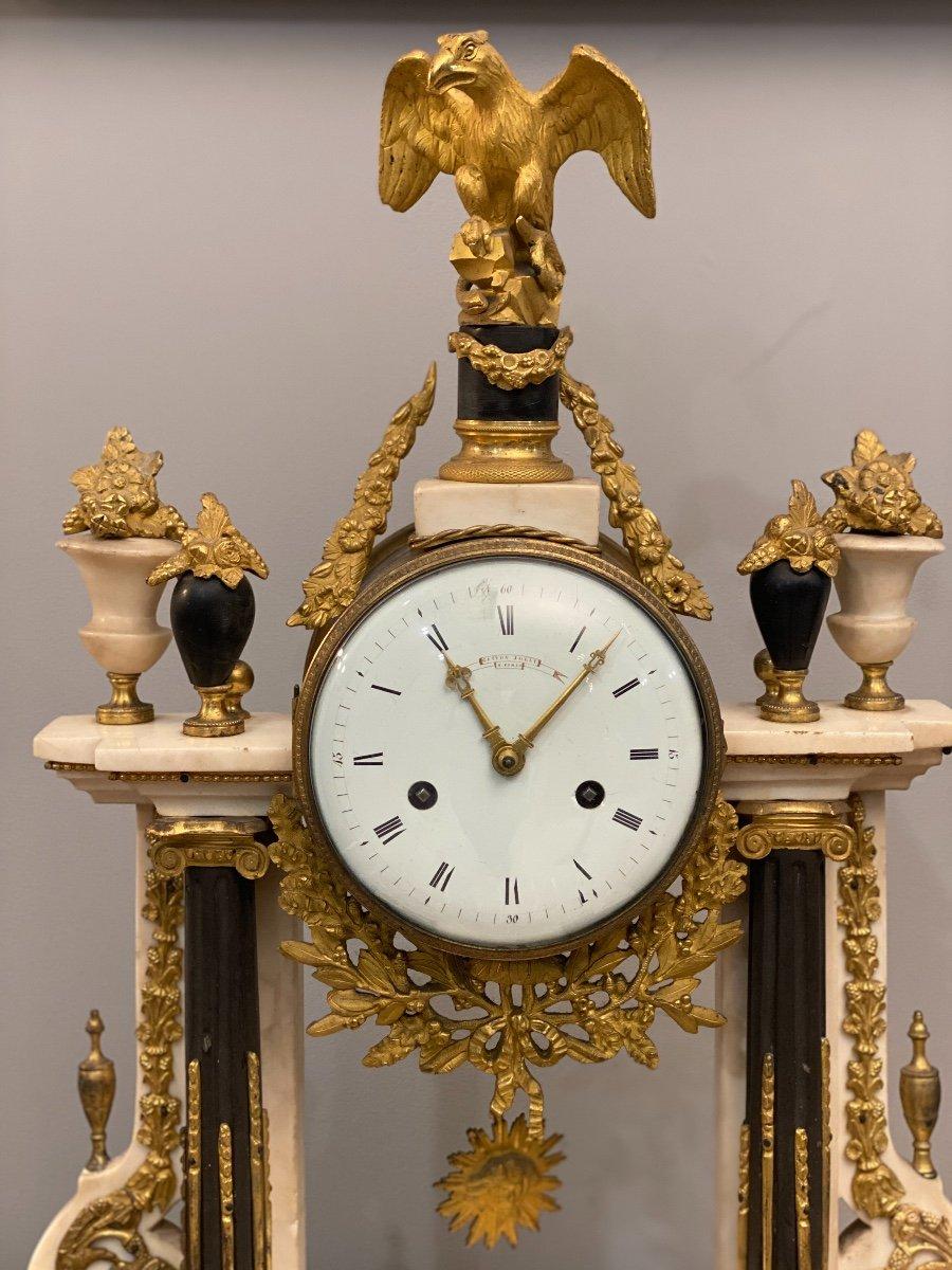 Large Portico Clock Louis XVI Gaston Jolly Paris Around 1780-photo-6