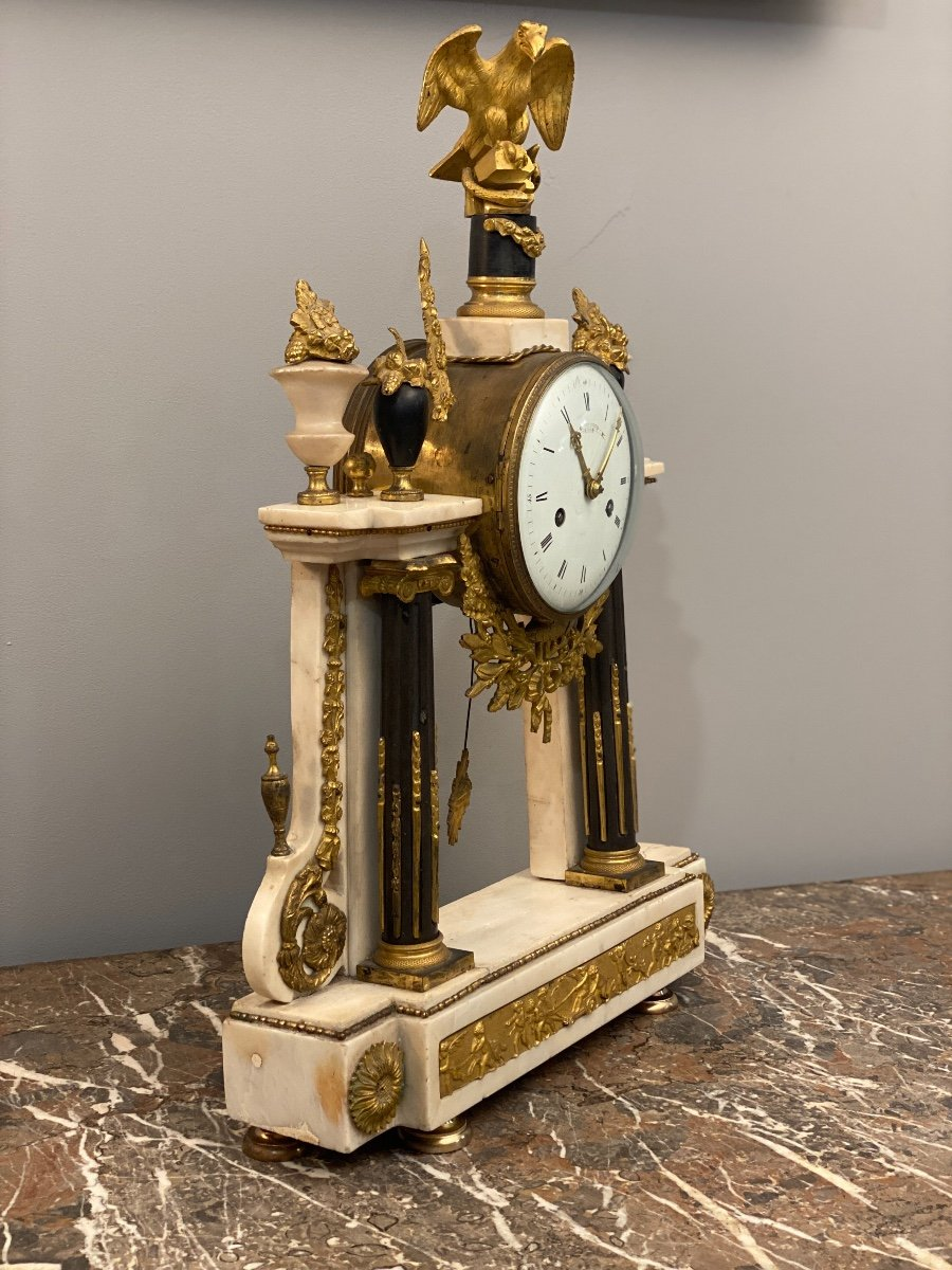 Large Portico Clock Louis XVI Gaston Jolly Paris Around 1780-photo-7