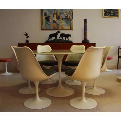 Table Knoll Marbre Eero Saarinen Circa 1970