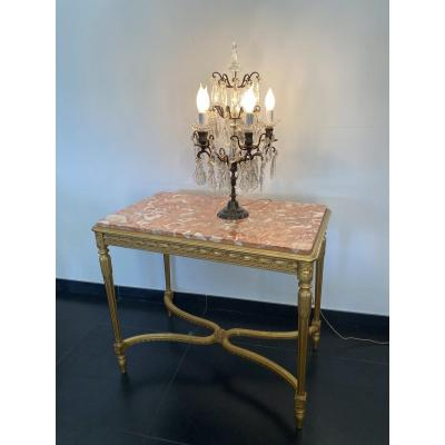 Middle Table In Golden Wood And Sculpted Napoleon III Period