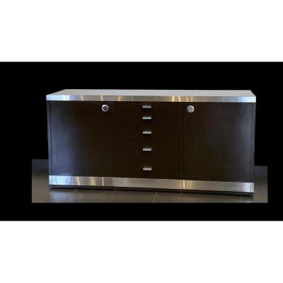 Enfilade Moderniste Sideboard Par Willy Rizzo (1928 - 2013) Circa 1970