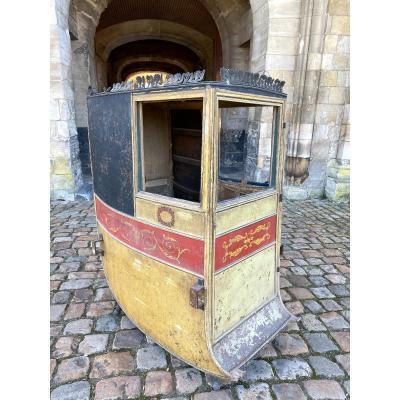 Tres Rare Chaise A Porteur d'Epoque Directoire Epoque XVIIIeme Vers 1790