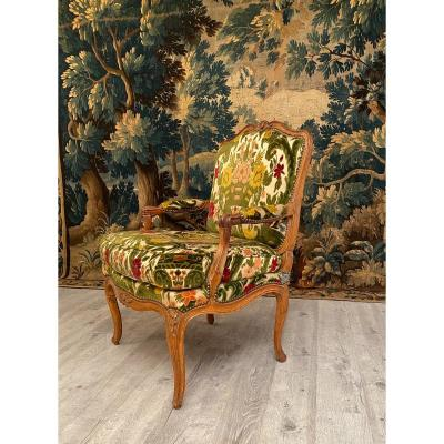 Large Armchair With Flat Back Louis XV Period Circa 1730