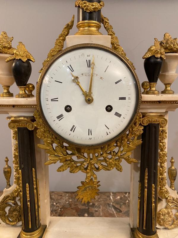 Large Portico Clock Louis XVI Gaston Jolly Paris Around 1780-photo-3