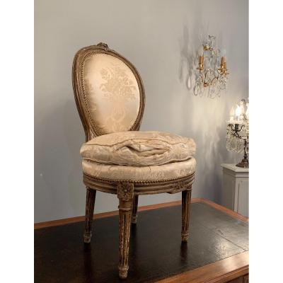 Petite Chaise Chauffeuse d'Epoque Louis XVI