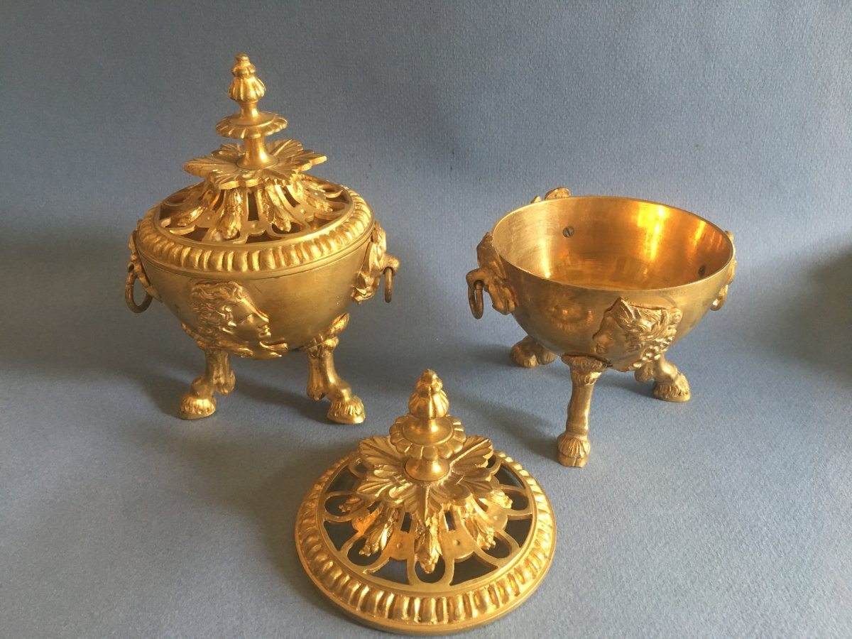 Brule Parfum - Bronze Doré-  Epoque Napoléon  III