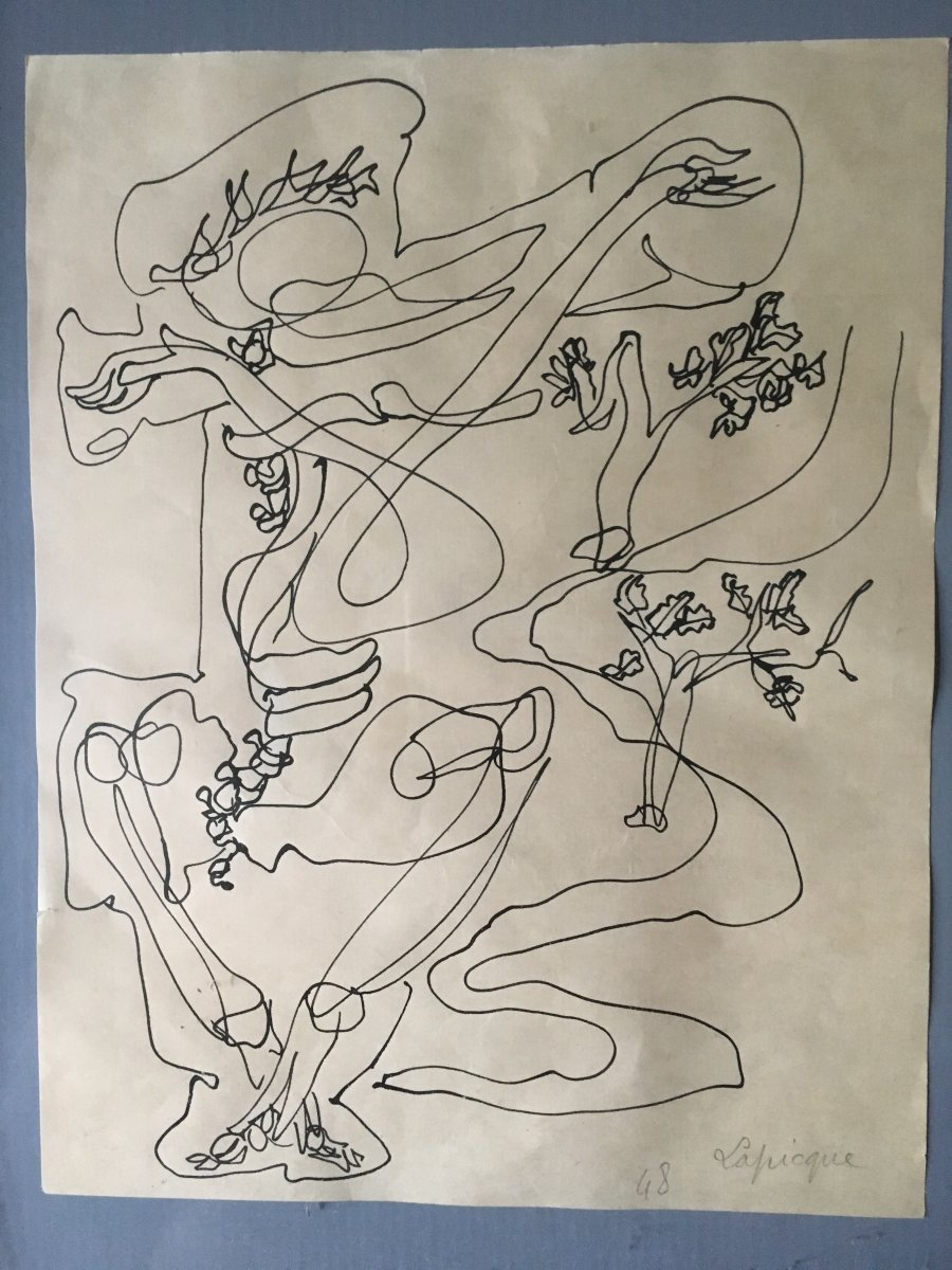 Charles Lapicque Ink On Paper 1948