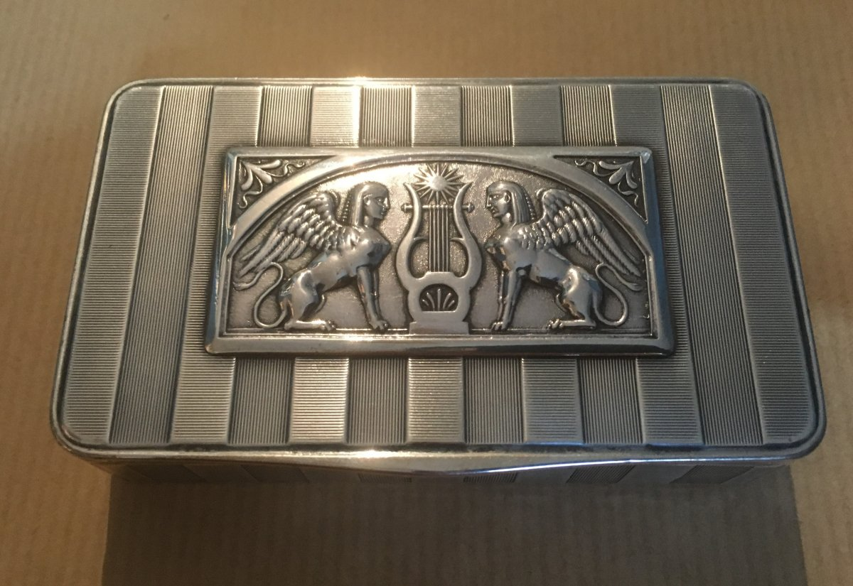 Silver Box In The Return Style Of Egypt.