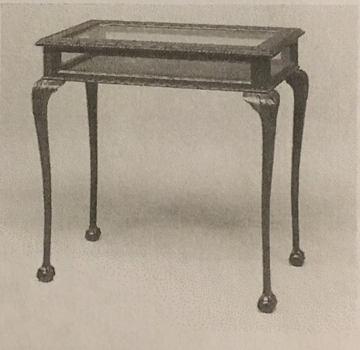 English Plate Showcase In Dark Mahogany Victorian Era
