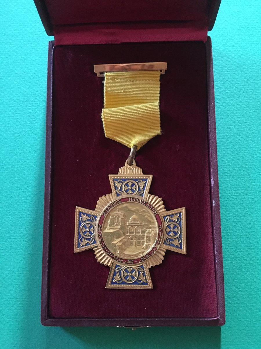 Medal Decorating The Cross Of The Orthodox Patriarch Of Jerusalem