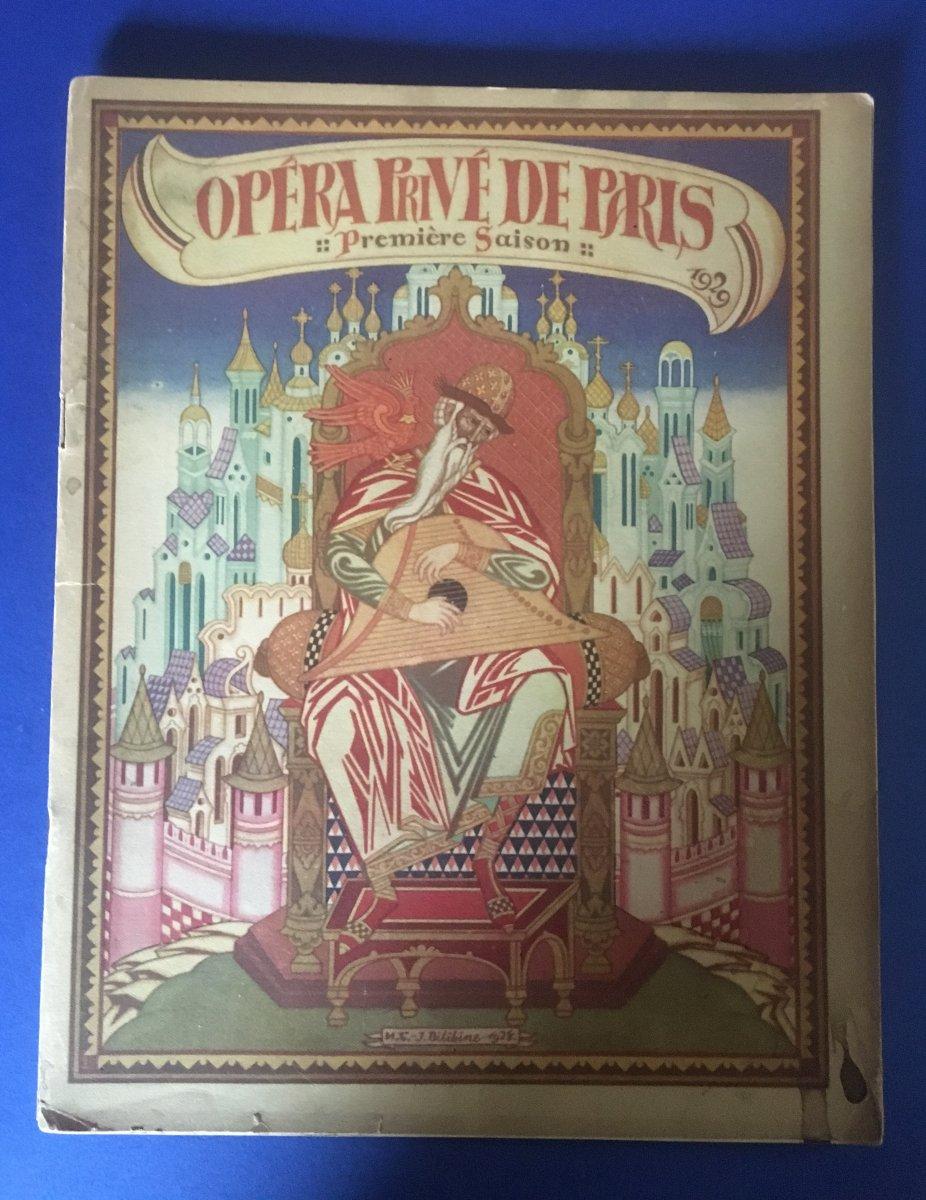 """Programme de """"TZAR SALTAN"""" par l'Opera Privée de Paris 1929"""