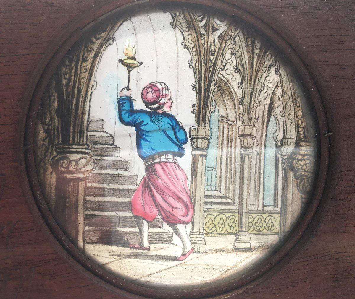 3 Plaques Pour Lanterne Magique Anglaise. Série