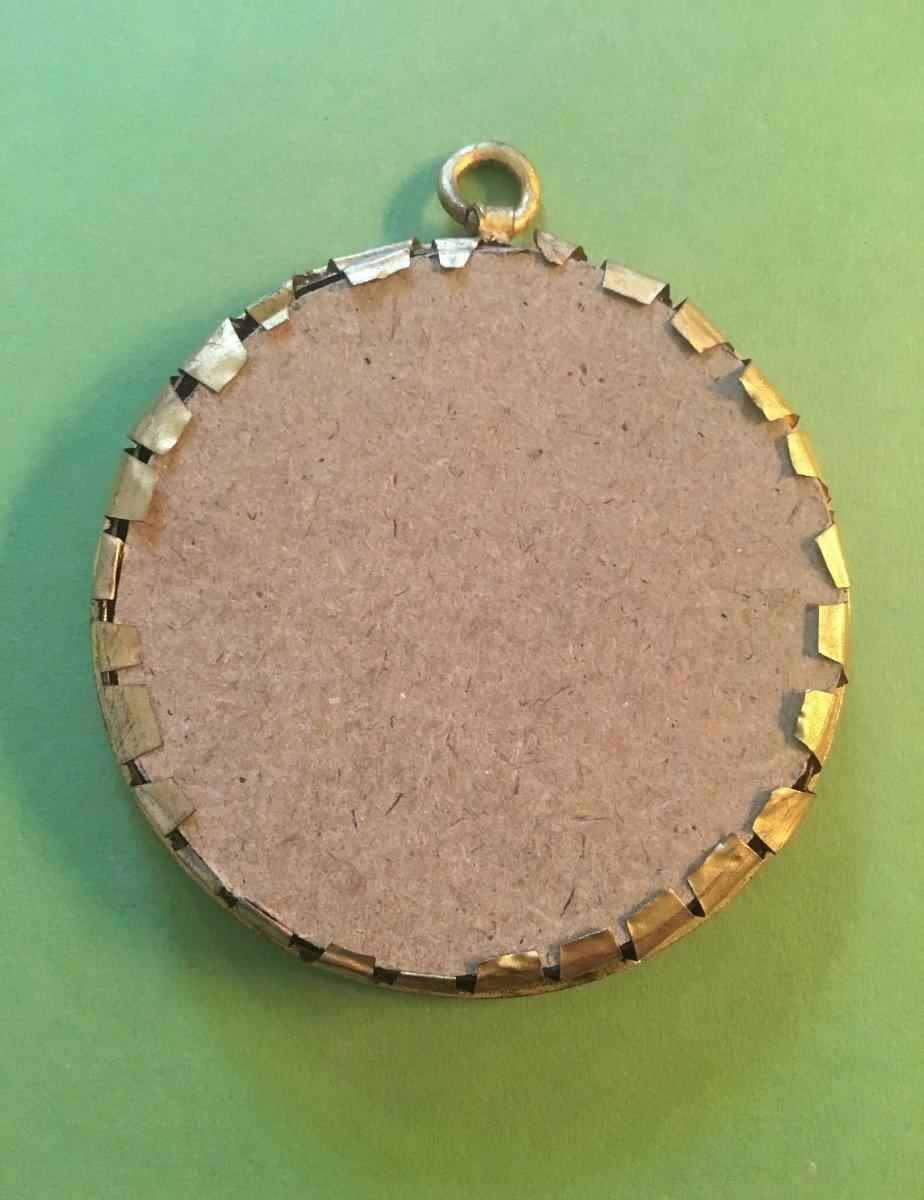Joseph Bonaparte- Bronze Medal In Its Brass Frame-photo-2