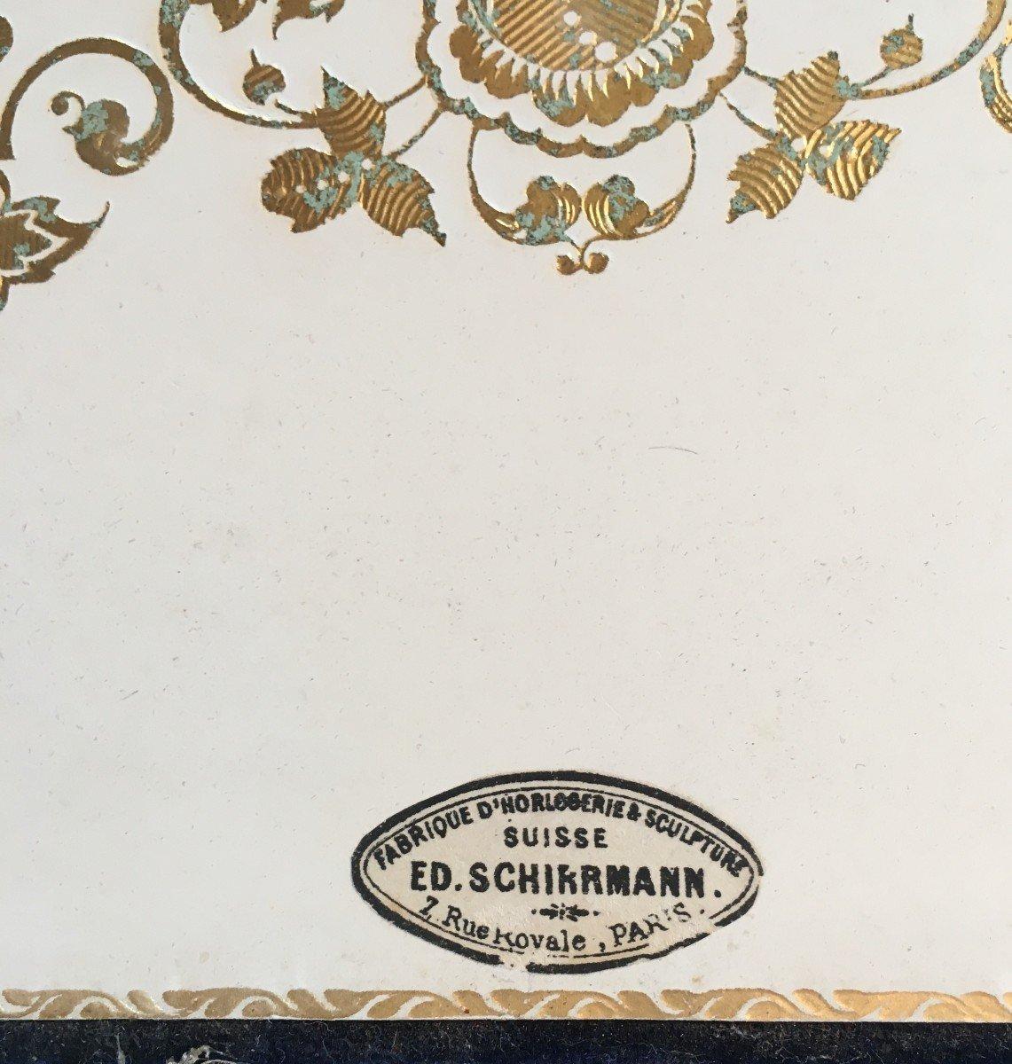 Etui à Courrier En Velour Bleu  Et Garniture Bois Napoléon III-photo-2