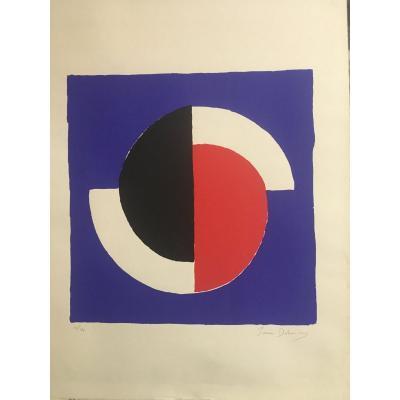 Sonia Delaunay (1885-1979) Lithographie Originale  Signée Et Numérotée De 1964