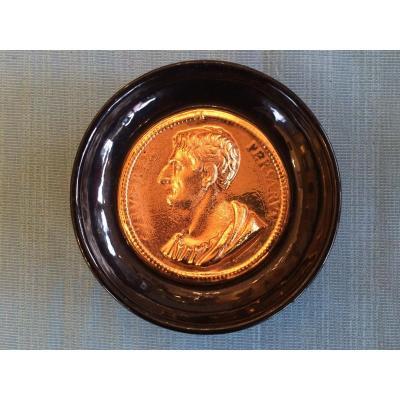 Fornasetti Piero, Vide-poche  Avec Médaillon- Neo-classique Style