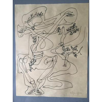 Charles Lapicque  Encre Sur Papier 1948