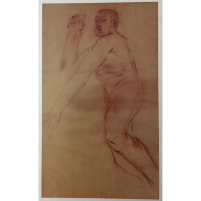 Leon Golub (1922-2004)  Sanguine Sur Papier