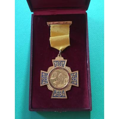 Médaille De Décoration De La Croix Du Patriarche Orthodoxe De Jérusalem