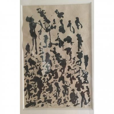 Henri Michaux  Encre Sur Papier Japon