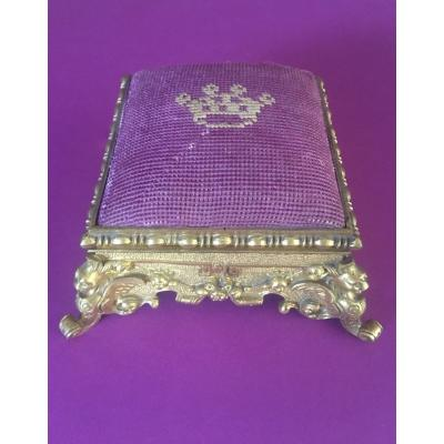 Napoleon III Gilt Bronze Pin Box