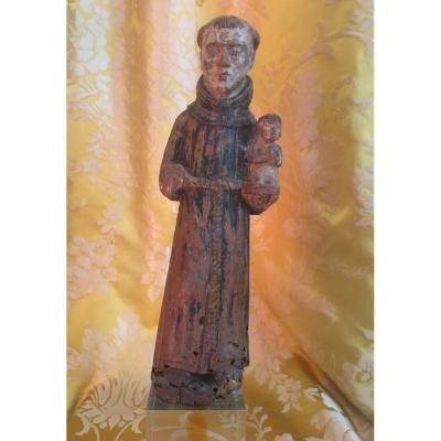 Statut  Représentant  Saint Antoine de Padoue. Epoque 16 Iéme / 17 Iéme